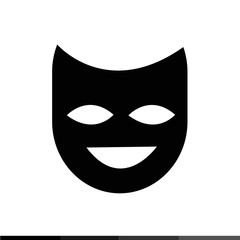 Theater mask icon illustration design