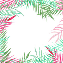 Tropical greeting card.
