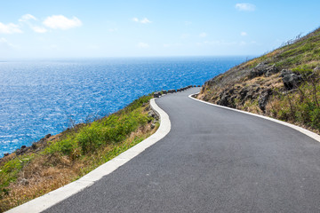 Road beside the ocean