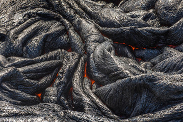 Close up lava flow