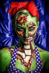 halloween female zombie