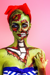 pin-up zombie girl