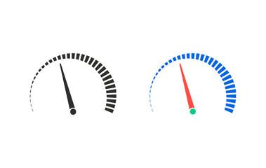 speedometer vector. speedometer- vector icon. speedometer