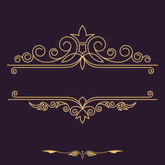 Vintage vector monogram.