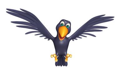 flying  Crow cartoon character