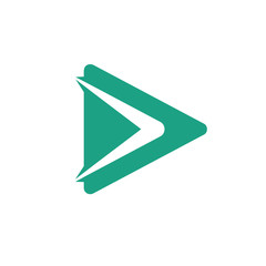 Video vector logo icon