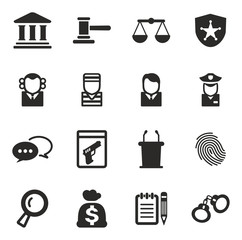 Courthouse Trial Icons