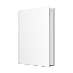 Blank Hardcover Book Illustration Isolated On White Background. Mock Up Template Ready For Your Design. Vector EPS10