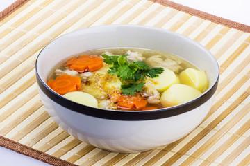 Bean curd soup hot blow