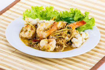 Spicy seafood from Thailand Asia