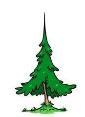 Green tree cartoon illustration   image plant