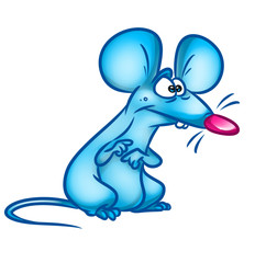 Rat wonder cartoon illustration  isolated image animal character