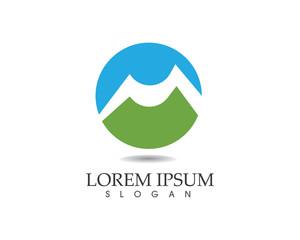 M logo home and mountain
