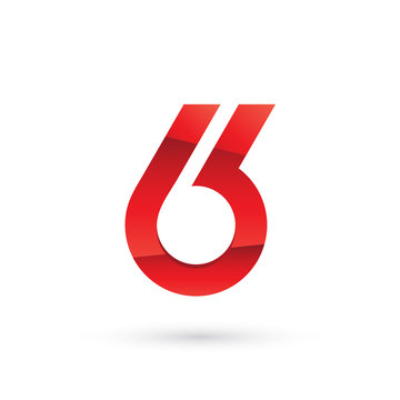 Number Six Abstract Logo
