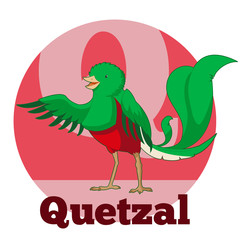 ABC Cartoon Quetzal