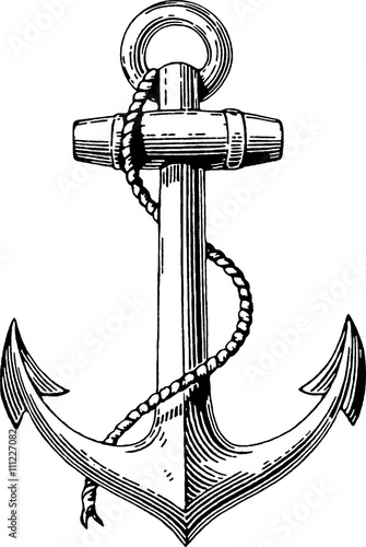 Line Drawing Anchor : Quot vintage drawing anchor stock photo and royalty free