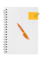 blank spiral notebook with pen