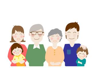 家族、介護、福祉、幸せ、ファミリー、老後、二世帯、同居、日本人、並ぶ、シニア、認知症、元気、安心、