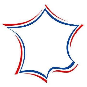 carte de france bleu blanc rouge drapeau design