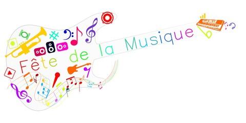 Photos illustrations et vid os de notes de musique - Fete de la musique 2017 date ...