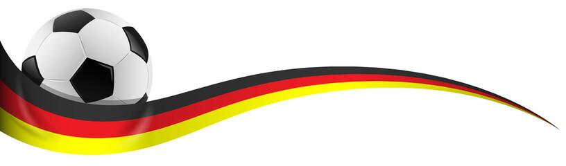 Fußball mit Deutschland Flagge Farben