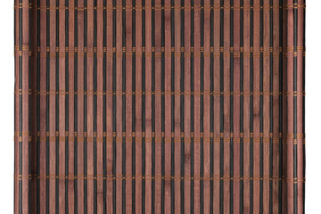 Bamboo mat twisted in the form of a manuscript, Isolated