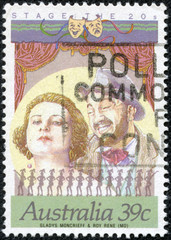 stamp printed in Australia shows Star of Stage and Screen