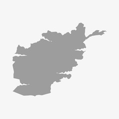 Afghanistan map in gray on a white background