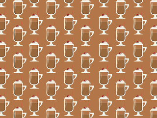 Milk. Coffee Background.
