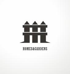 House shape made as a fence - creative symbol concept