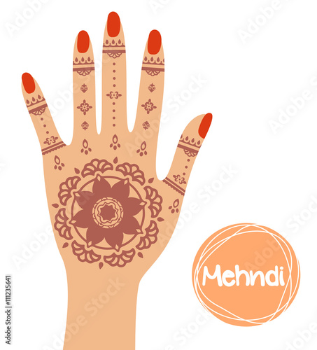 Henna Mehndi Vector Free Download : Quot mehndi hand stock image and royalty free vector files on fotolia pic
