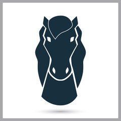 Horse icon on the background