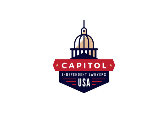 Capitol Logo Lawyer vintage retro design Creative Government