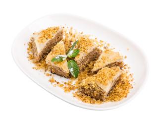 Delicious oriental dessert baklava.