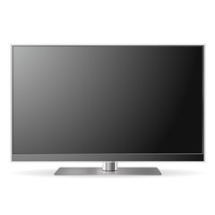 led lcd tv set model. Vector icon.