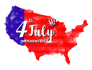 Vector Illustration of an 4 july Independence Day Design