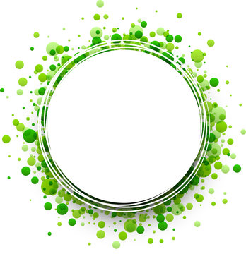 Background with green drops.