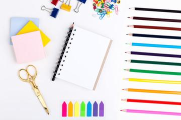 Pencils, scissors and notepad