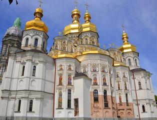 Foto op Aluminium Kiev Kiew - Uspenski-Kathedrale im Höhlenkloster am Westufer des Dnepr