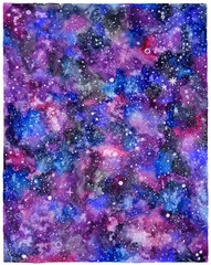 Watercolor space or cosmic background.