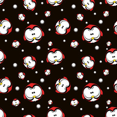 angry bird seamless background