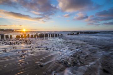 Bałtycki zachód słońca