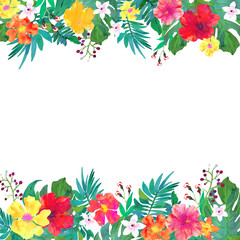 Frame for your text with floral watercolor background.