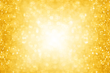 Abstract golden glam sparkly party background