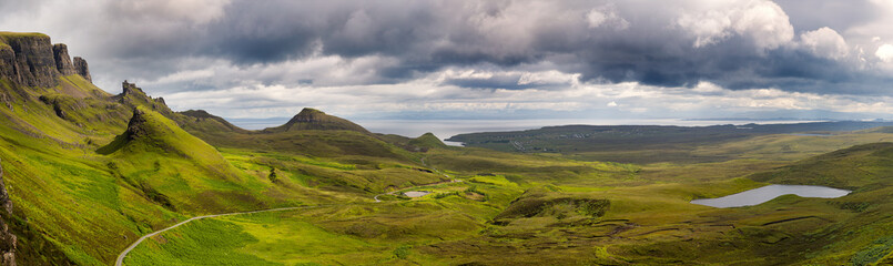 Panorama of the Quiraing mountain range Wall mural