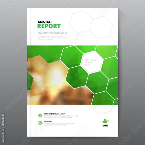 Book Cover Pattern Template : Quot green annual report leaflet brochure flyer template a