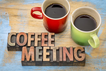 coffee meeting concept