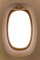 Frame of window aircraft with white color in frame
