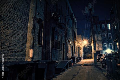 Fototapete Dark City Alley