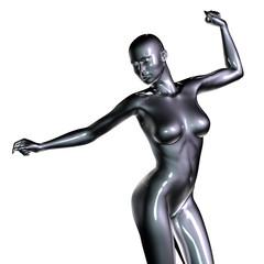 3d rendered illustration of female body